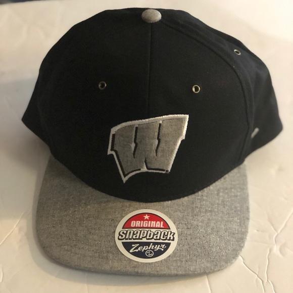 5dafc6e97d5e3 Wisconsin Badgers SnapBack Zephyr Hat